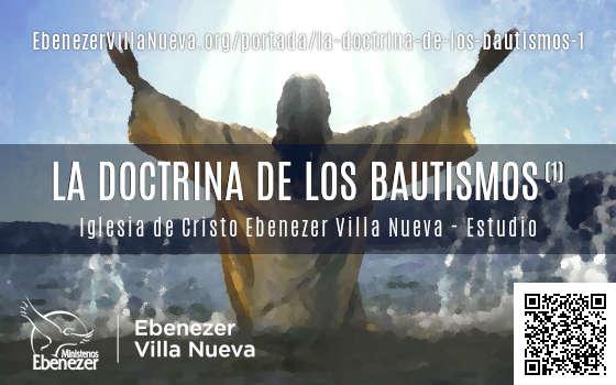 LA DOCTRINA DE LOS BAUTISMOS (1)